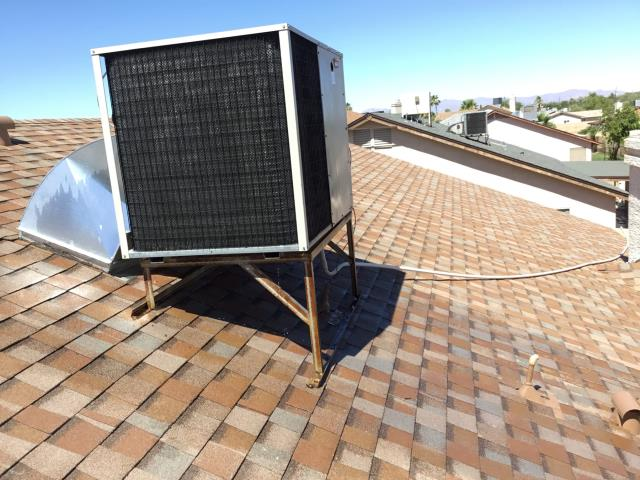 Peoria, AZ - In Peoria, AZ:  Cycled system on in cooling. Checked volt and amp draws, and all were within factory specs. Cleaned and tightened electrical connections. Checked Freon levels and pressures, also in factory specs. Acid washed outdoor coil and rinsed. Recommend new 45/5/440 capacitor. Service completed.