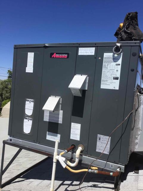 Scottsdale, AZ - In Scottsdale, AZ:  Cycled unit on in cooling mode. Replaced intake filters and took temperature readings from supply and return. Checked volt and amp draws. All in factory specifications. Cleaned and tightened electrical connections. Checked Freon levels and pressures, all are in factory specifications. Checked indoor blower motor amps. Checked start and run capacitors. Upon departure, unit is working properly and within manufacturer specifications.