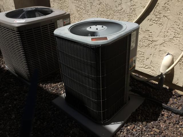 Peoria, AZ - In Peoria, AZ:  York system checked; drain pan water had overflowed 2 years ago because of a blocked drain line. Issue was addressed and repaired at that time; drain is properly pitched and working. Completed service on York system.