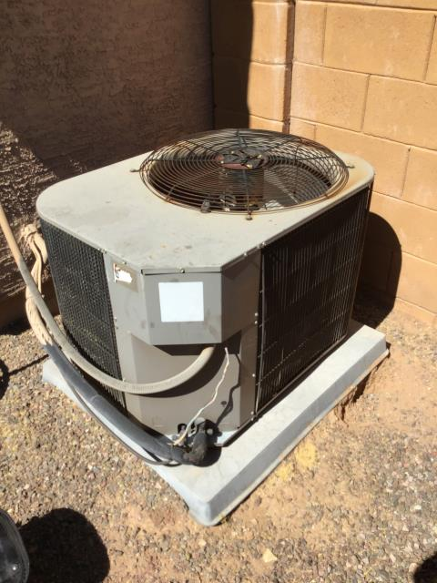 Buckeye, AZ - In Buckeye, AZ:  System is very loud and is heavily vibrating due to a bad condensing fan motor. Customer was aware of the issue at start of service; left estimate for repairs. Due to age and condition of system, would recommend replacing system. Customer said she does not want to fix system; she would rather replace it. No warranty on service due to bad motor.