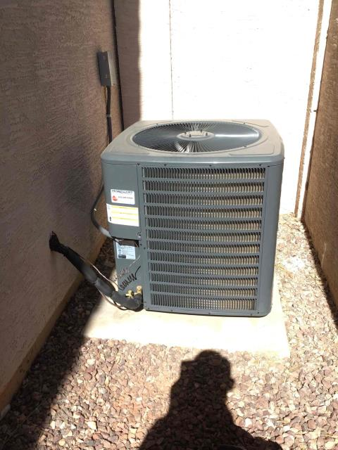 Glendale, AZ - In Glendale, AZ:  Completed quality inspection. Installation is proper. Charge is set correctly. Heater is functioning properly. Unit is working properly upon departure.