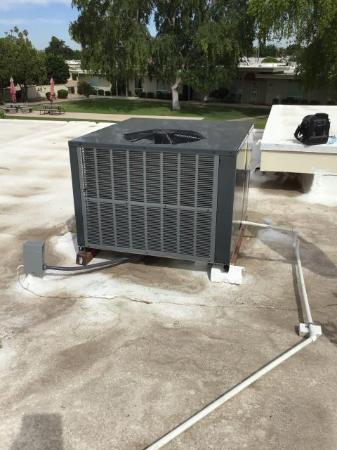Sun City, AZ - In Sun City, AZ:  Completed quality inspection on new install. Customer had concerns with thermostat. Went over operations with her during service. System working properly and within manufacturer specifications upon departure.