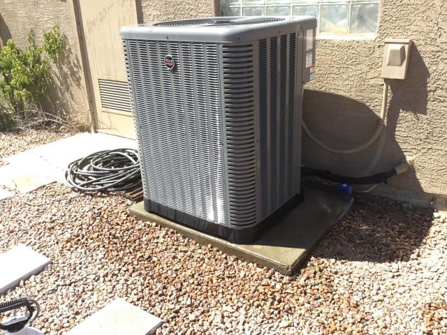 In Phoenix, AZ:  PREVENTATIVE MAINTENANCE-  Cycled main system on into cooling mode. Checked volt and amp draws; all in factory specification. Cleaned and tightened electrical connections. Checked Freon levels and pressures. Also in factory specification. Acid washed outdoor coil and rinsed. Changed return air filter and checked splits; Return 77/Supply 58.