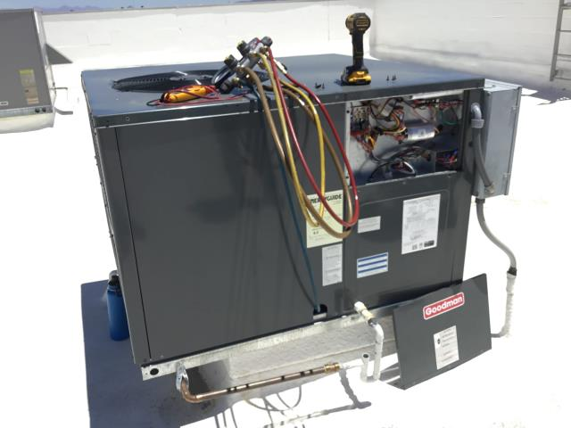 In Peoria, AZ:  DIAGNOSTIC-  Upon arrival, found high volt to system burnt off of main supply lug. Cut back damaged wiring and spliced in new wire. Tightened all terminal connections. Tested compressor. System working properly upon departure.