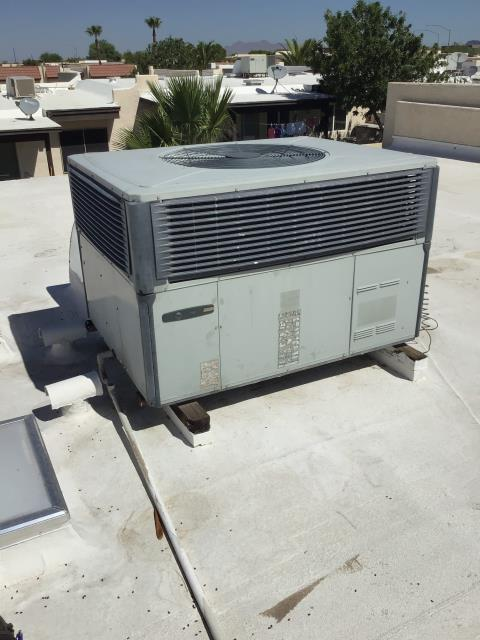 Mesa, AZ - In Mesa, AZ:  PREVENTATIVE MAINTENANCE-  Completed maintenance service in accordance with maintenance checklist. Replaced Schrader valve and recharged system at time of service. Need to monitor evaporative coil for wear on future services. Service complete.