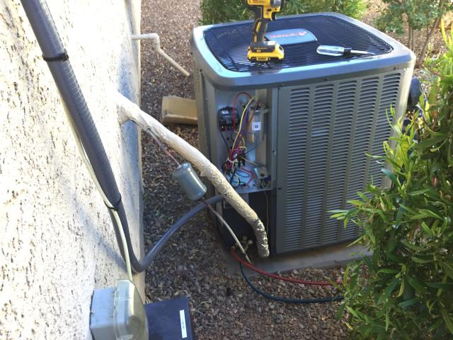 Buckeye, AZ - Buckeye, AZ:  QUALITY INSPECTION-  Quality inspection on newly installed condenser. Checked level on the condenser; all looks good. New disconnect with whip is installed and proper. Set charge on the system; all electrical is tight and working within manufacturer specifications. Service complete.