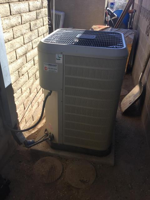 In Guadalupe, AZ:  INSTALL PARTS-  Upon arrival, removed wiring and dismounted motor from furnace. Removed motor from housing and removed screws. Installed new motor in housing and fastened screws. Mounted motor in blower cabinet. Re wired motor and cycled unit into cooling mode. Upon departure, unit is working properly and within manufacturer specifications.