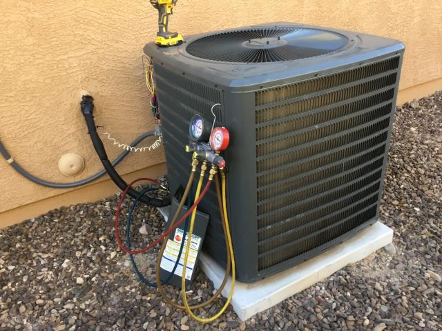 Sun City, AZ - In Sun City, AZ:  DIAGNOSTIC-  Upon arrival, cycled system into cooling mode and checked charge due to recent issues with leaks on system. Charge set at 121/445 psig and splits 48/70. Home is 71 degrees. Inspected ducting, blower motor, and contactor all for failures that would cause unit to freeze. Recommended to customer to run system at 74-76 degrees to give it a chance to rest during the hottest part of the day or possibly look into insulating the home to help retain temperatures. Customer was concerned that the 1 year labor, covered with install, would expire with an ongoing issue. Told him we will take care of any issue that would arise if he is having the same issue. Waived diagnostic fee. Service complete.