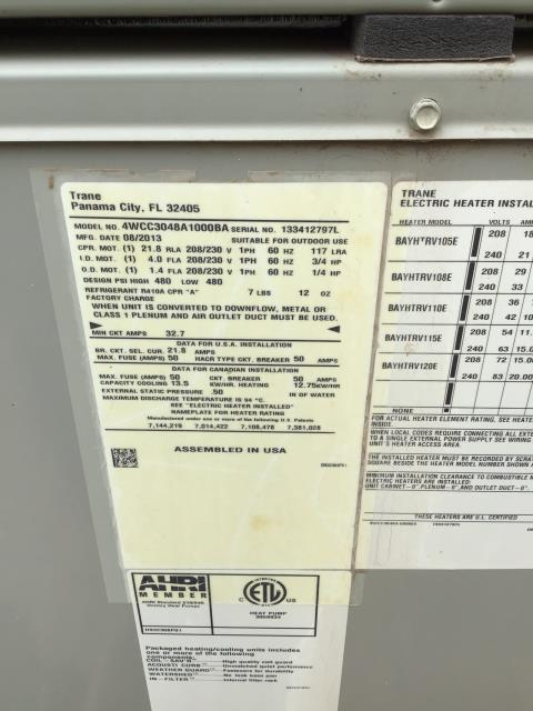 Phoenix, AZ - In Phoenix, AZ:  DIAGNOSTIC-  Upon arrival found blower motor rubbing on housing due to it being out of balance. Motor and housing need to be replaced. Unit is a 4 ton system for a 2100 sq ft home. Recommend replacing unit for the correct size. Listed estimate for repair or replacement. Customer needs to talk to son before making a decision.  *5 ton 14 seer Amana 10/10/10 $9481 Morehart ac to install and furnish 5 ton 14 seer Amana package heat pump. System has a ten year parts, compressor, and labor warranty. Installation will include new stand 4/12 pitch, elbow side by side 37.5x22x2.5, drain line, and thermostat. To hook up to existing electrical and duct work. Price covers crane, tax, and installation.  Service and estimate complete.
