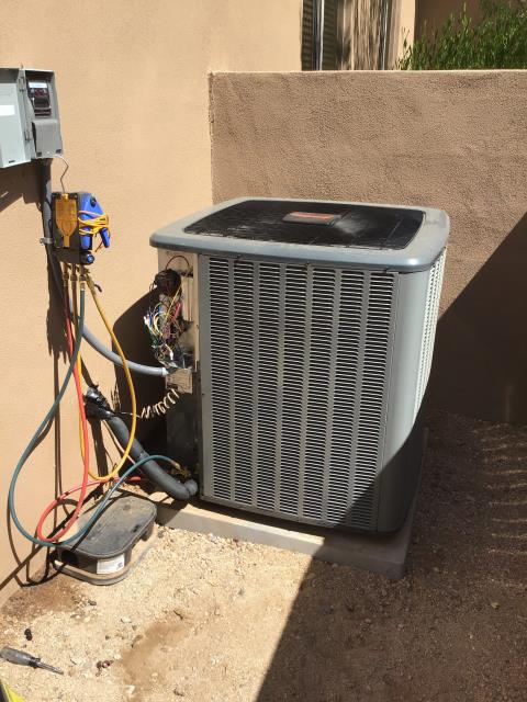 Cave Creek, AZ - In Cave Creek, AZ:  QUALITY INSPECTION-  Completed quality inspection for new installation. Performed full performance inspection on system. Unit is functioning properly. Charge set within specification. Tested furnace, please note burn off coils not be performed; recommend heating service. Tested drains. Unit working properly