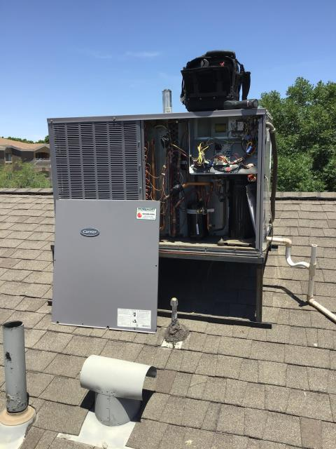 Phoenix, AZ - In Phoenix, AZ:  INSTALL PARTS-  Upon arrival, removed wiring and blower housing as well as mounting kit. Installed new motor and rewired to existing wiring and placed motor back in housing; remounted motor. Upon departure, unit is working properly and within manufacturer specifications. Service complete.