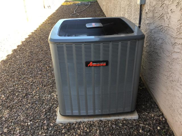 Goodyear, AZ - In Goodyear, AZ:  QUALITY INSPECTION-  Checked newly installed condenser. High volt tight, disconnect installed with new whip and looks good. Low volt with sensor is installed and proper. Freon levels are in factory specification. Condenser looks very nice. Installed hard start kit back on system. Inspection complete.