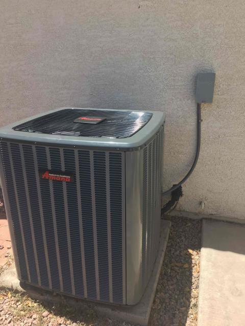 Peoria, AZ - In Peoria, AZ:  QUALITY INSPECTION-  Performed quality inspection on newly installed HVAC equipment. Upon departure, unit is working properly and within manufacturer specifications. Inspection complete.