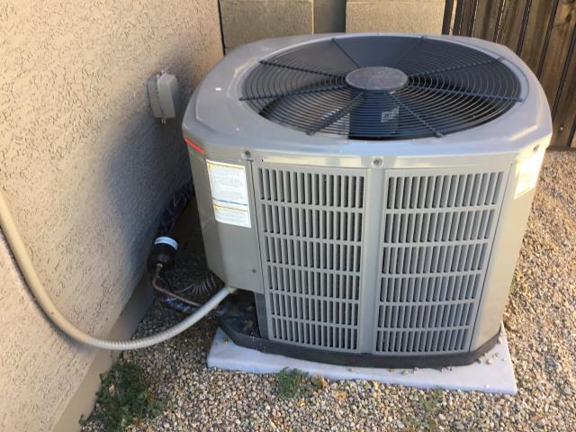 """Phoenix, AZ - In Phoenix, AZ:  PREVENTATIVE MAINTENANCE-  Performed a """"no contact"""" Spring PM service. Customer cycled system on into cooling mode. Checked volt and amp draws. All are in factory specification. Cleaned and tightened electrical connections. Checked Freon levels and pressures. Also, in factory specification. Acid washed the outdoor coil and rinsed. Did not change return air filter, as this was a no contact visit. Upon departure, system is running properly and within manufacturer specifications. Service complete."""