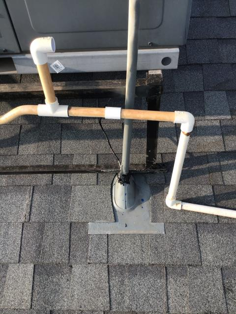 Peoria, AZ - In Peoria, AZ:  DIAGNOSTIC-  Attached conduit to electrical box and resealed in roof jack. Service complete.