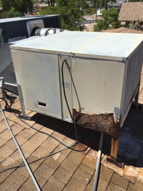 Phoenix, AZ - In Phoenix, near West Windrose Drive and North Columbine Drive giving an estimate for new evap cooler.