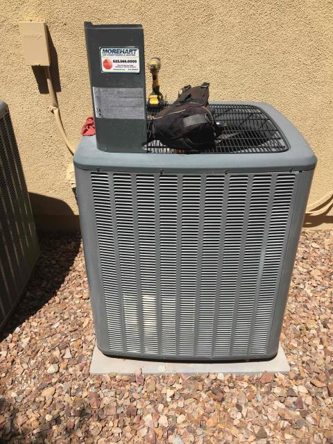 New River, AZ - In Anthem, near West Legends Way and North Back Creek Way performing a diagnostic on Amana condensor. Found compressor to be short cycling. Unit was also over charged. I would recommend replacing indoor txv and adding fresh charge.