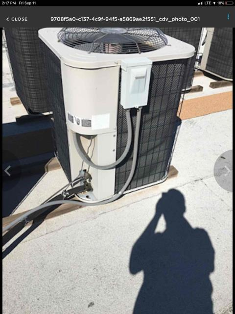 Surprise, AZ - In Surprise, near West Mountain View Boulevard and North Reems Road performing dual preventative maintenance on an Aire Flo condenser. Upon arrival, cycled unit into cooling mode. Left homeowner with intake filters and took temperature readings from supply and return. At unit, cleaned and tightened electrical connections. Took volts and amp draws from components and checked capacitors. Checked Freon levels with super heat and subcool. Replaced existing thermostat with Eco Bee tstat. Upon departure, unit is working properly and within manufacturer specifications. Left thermostat un secured to wall until dry waller fixes dry wall.