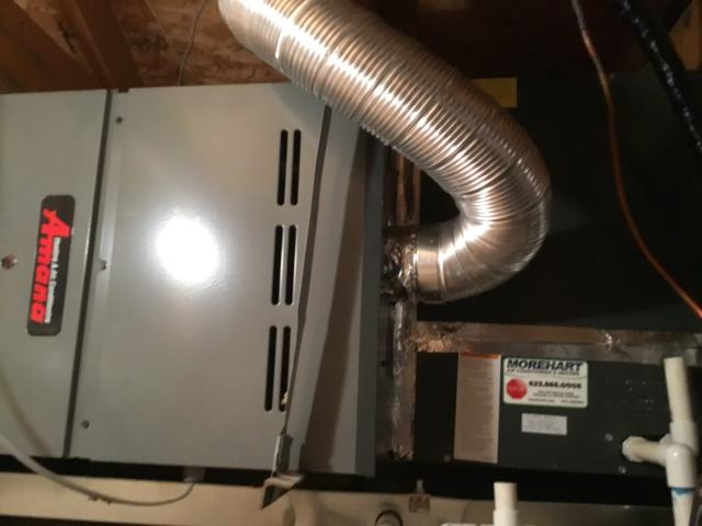 Cave Creek, AZ - In Cave Creek, near East Coyote Washington Drive and North Black Mountain Parkway performing Fall preventative maintenance on an Amana furnace. Upon arrival, checked flame sensor. Checked gas line and flue piping; both are sealed and proper. Cycled system on into heating mode. Checked burners and ignitor. Checked volt and amp draws. Checked back pressure, safety switch, safety shut down working properly. Changed return air filter and checked splits. System is running within manufacturer specifications upon departure.