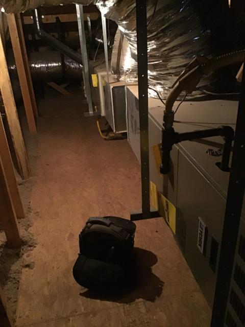 Buckeye, AZ - In Buckeye, near Sun City Festival performing Dual preventative maintenance on 2 York split systems. Upon arrival, customer said upstairs unit was not working. Found unit low on charge and blower motor with assembly has failed. Down stairs system is low on charge as well. Unit is intermittently engaging due to a failed capacitor. Inspected coils in attic and both have heavy rust occurring. Systems use R22 which has been phased out. Recommend replacement of both systems due to Freon type, age, and many other conditions. Units are not functioning upon departure.