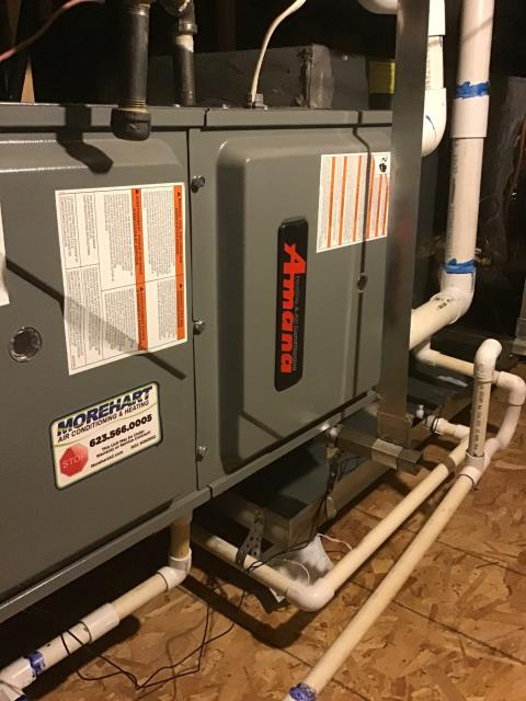 Buckeye, AZ - In Buckeye, near Sun City Festival performing Fall preventative maintenance on an Amana furnace. Completed service in accordance with maintenance checklist. Upon departure, system is running properly and within manufacturer specifications.