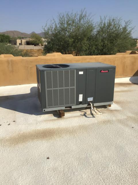 In North Phoenix, AZ performing a heating tune up service on a 4 ton Amana Package Heat Pump!