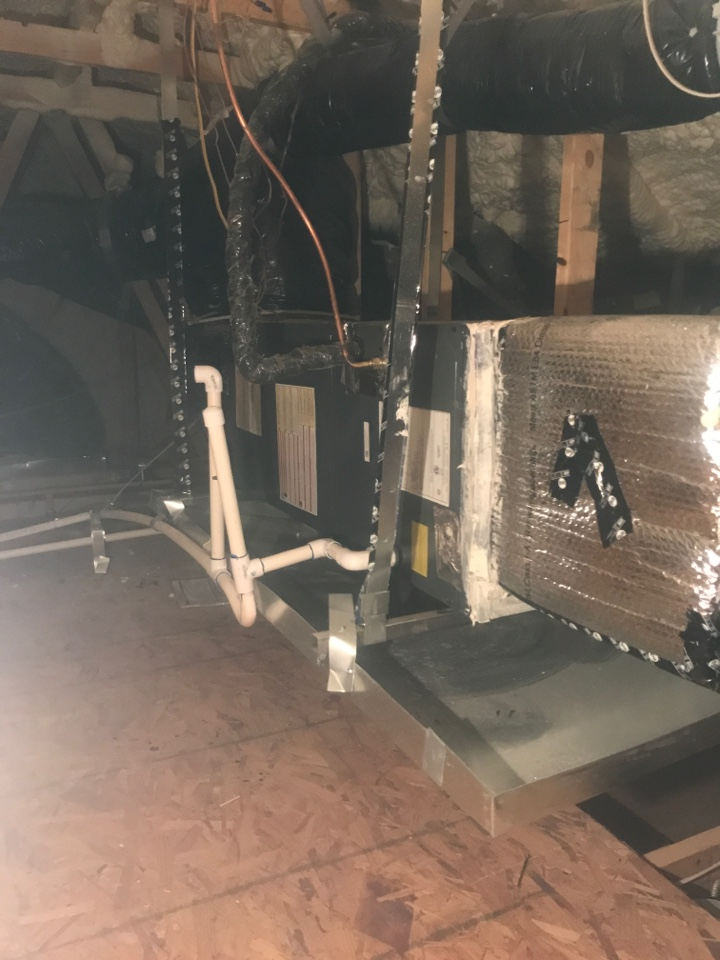 Peoria, AZ - In Peoria Az servicing a customers Amana split systems. Checked volt and amp draws. Cleaned and tightened electrical connections. Checked Freon levels and changed return filters. Systems are ready for the cold weather.