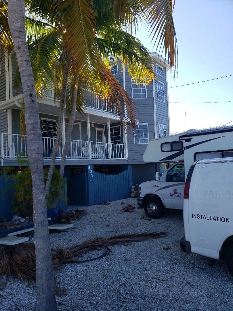 Summerland Key, FL - Getting started today on a new high impact window and door installation in Little Torch Key