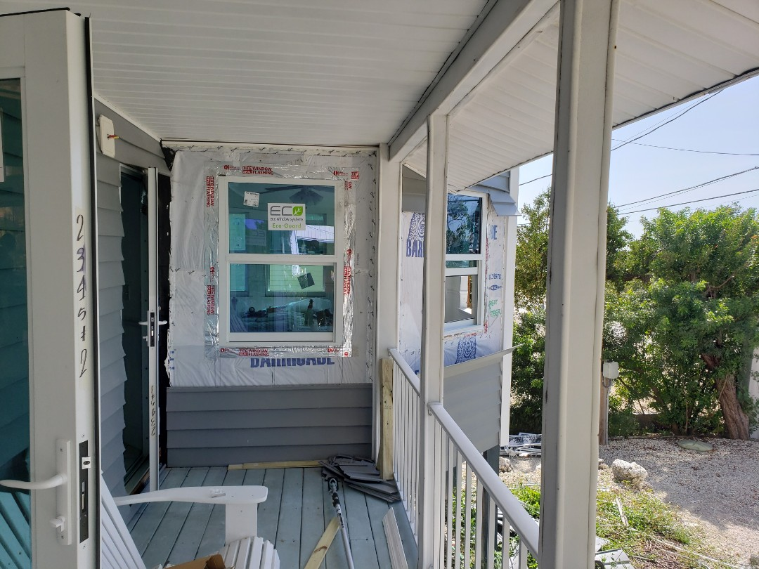 Little Torch Key, FL - Here in the lower Keys moving along with this high impact window and door retrofit