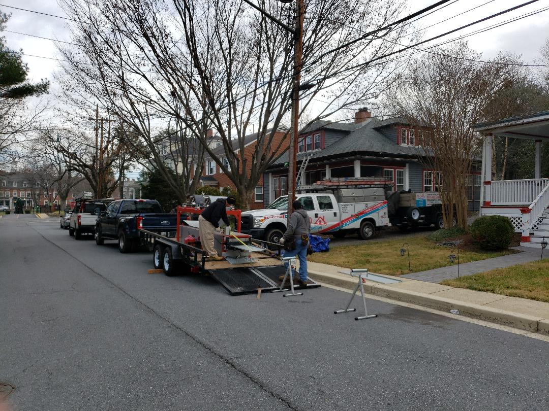Gaithersburg, MD - Metal Roof Replacement.  Half Round Gutters Replacement.  Shingle Roof Replacement. Window Replacement.