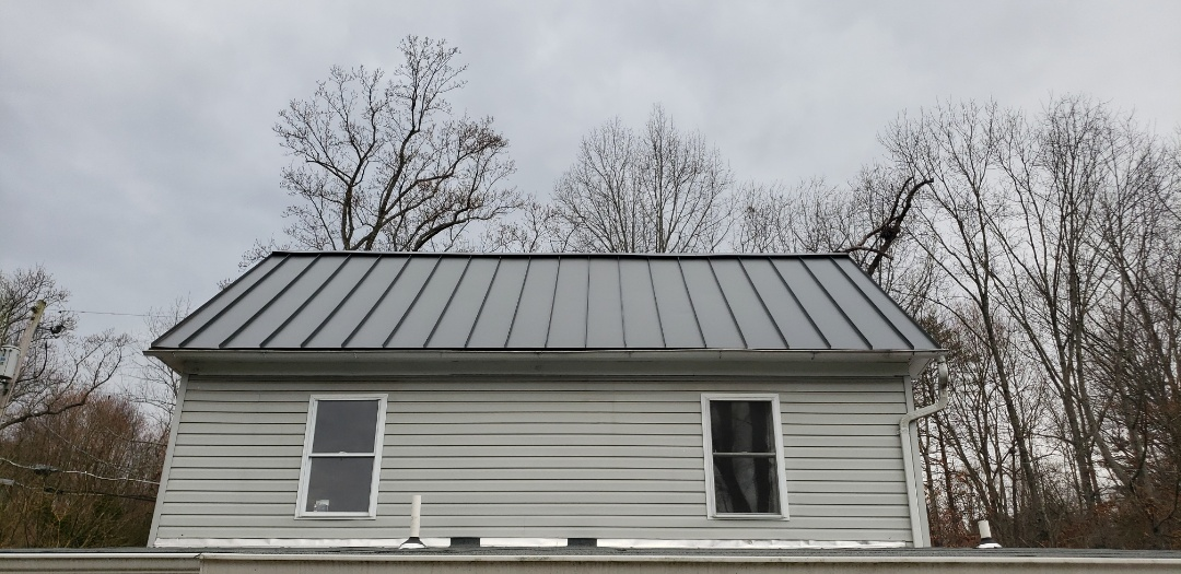 Frederick, MD - Charcoal Gray , Metal Roof Replacement.