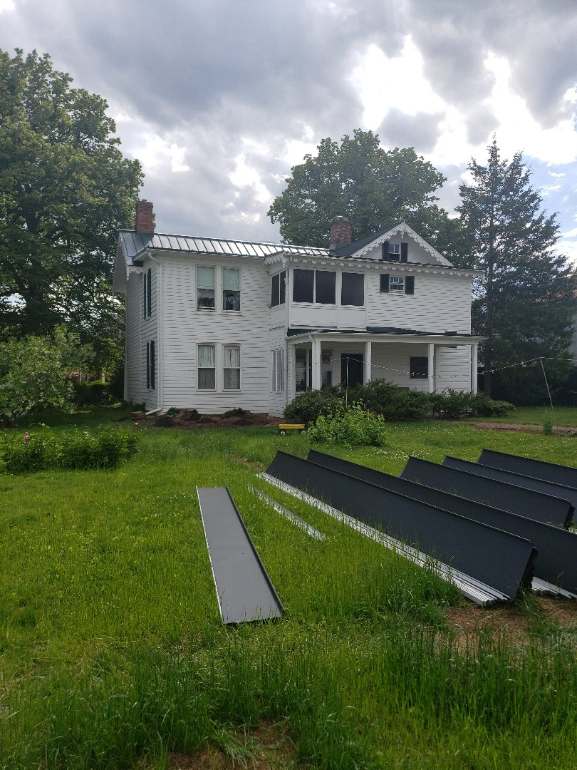 Westminster, MD - Metal Roof and gutters Replacement covered by insurance