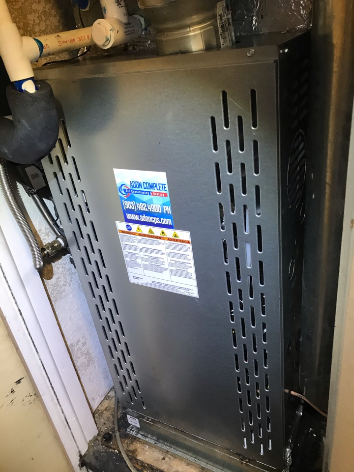 Denison, TX - Heating HVAC system New install in Denison Texas. Unit was not working for many months, the new system is running great. Thank you for choosing Adon your Train comfort specialist.