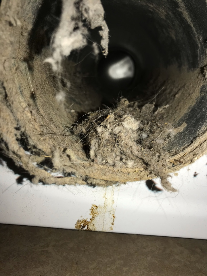 Frisco, TX - Getting those dryer vents cleaned. Frisco Texas thank you for choosing Adon Complete your air conditioning heating and air quality expert.