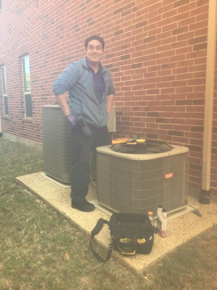 Frisco, TX - Spring maintenance on four units for the Padda family, Frisco