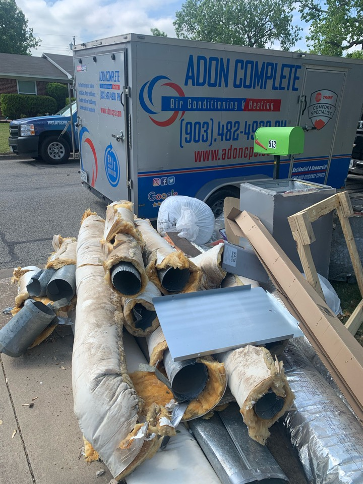 Sherman, TX - Ductwork replacement.