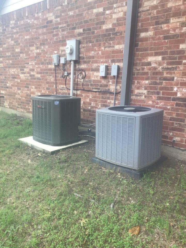 Allen, TX - A/C repair for the Imhof family, Allen
