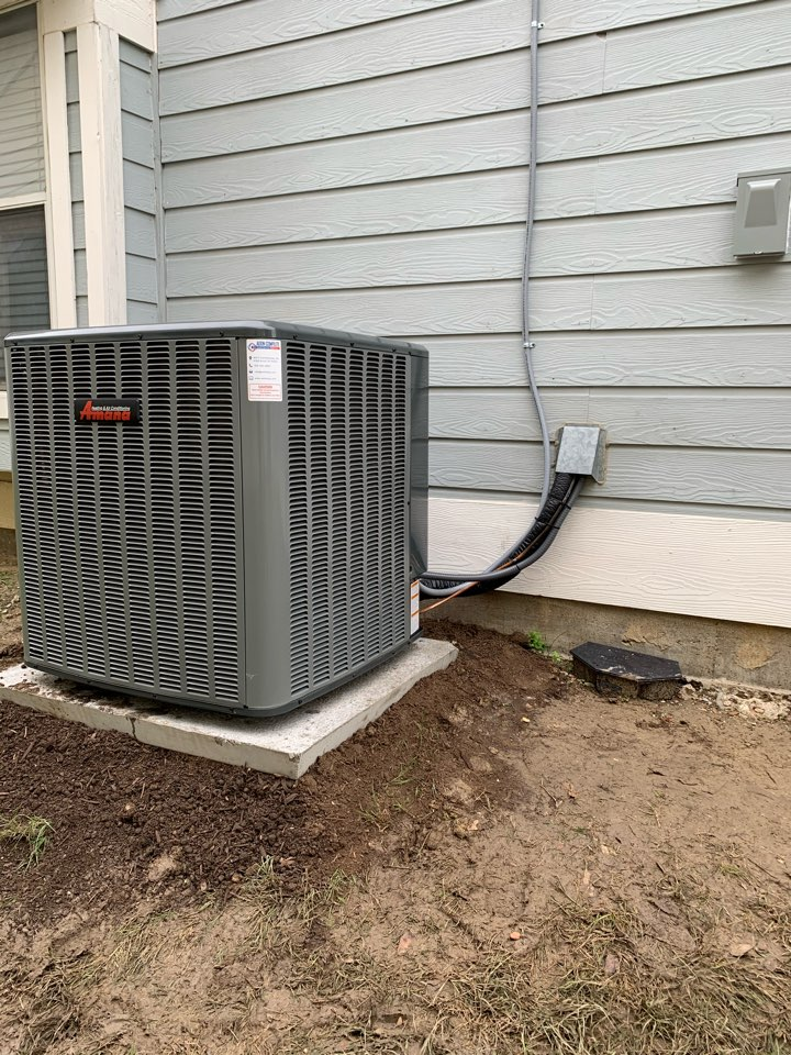 Anna, TX - Amana 3 ton heat pump two stage compressor. Complete System