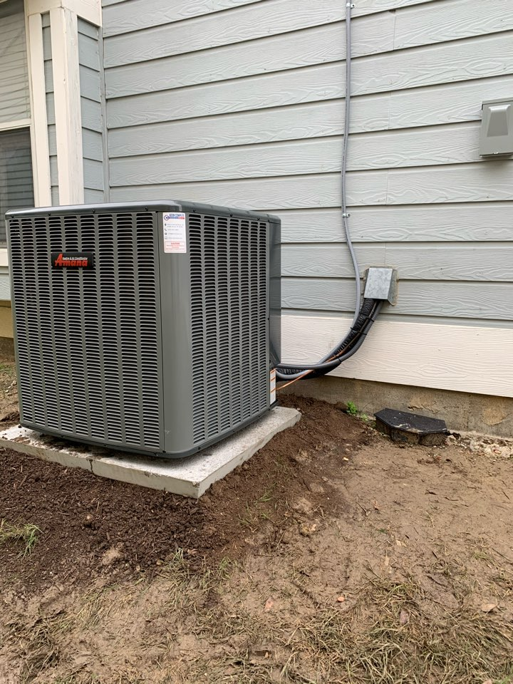 McKinney, TX - Amana Complete System Replacement. Gas system AC