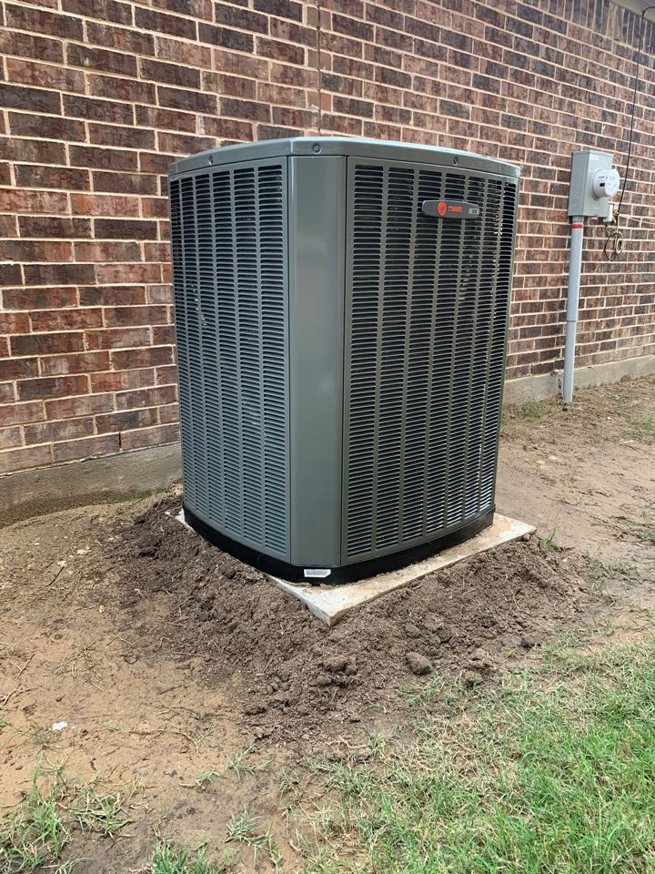 Anna, TX - AC 4 Ton completed system wi-Fi thermostat.
