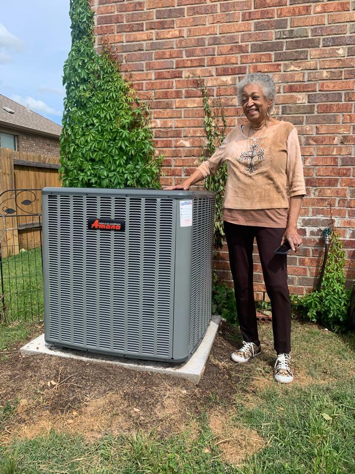 Anna, TX - Amana 4 ton heat pump zone cooling