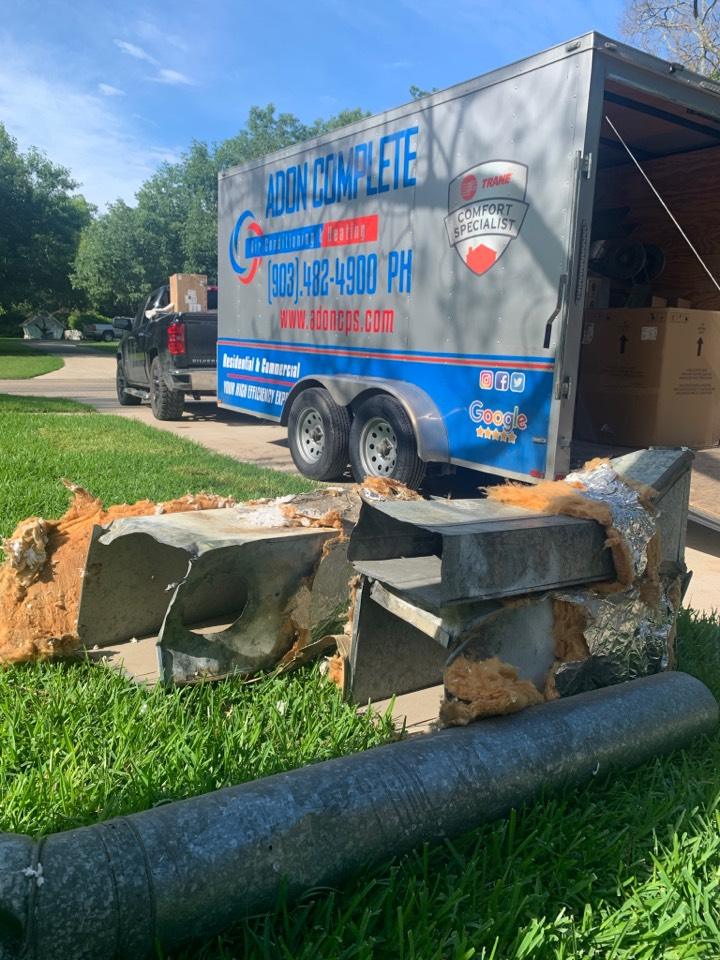 Sherman, TX - Total duct work replacement.