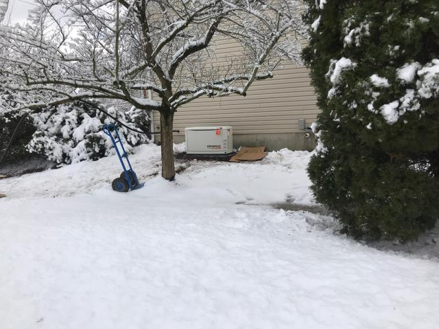 East Goshen Township, PA - New 22kw Generac Generator going in during a snowstorm!