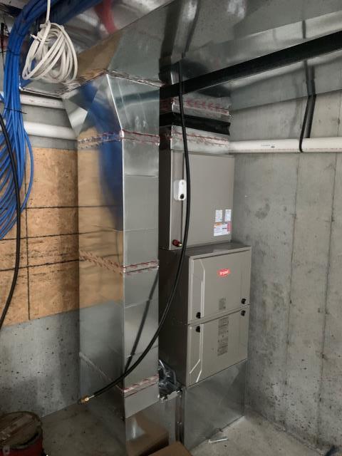 Conshohocken, PA - New Bryant heating and air conditioning system install for a new  construction project.