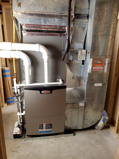West Chester, PA - New Lennox heater and air conditioner installation with drain pan and emergency cut off switch!