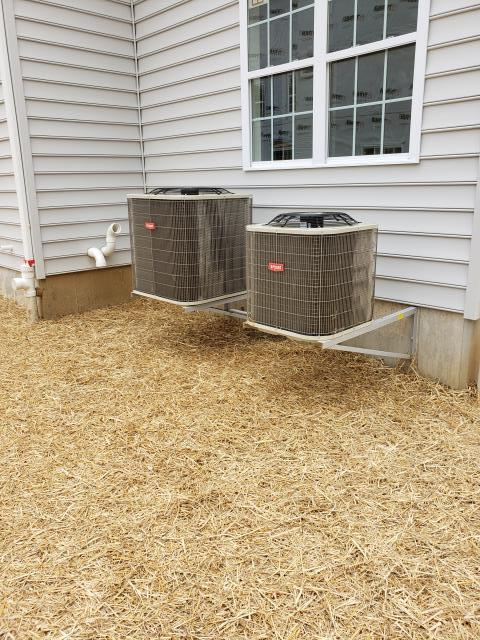 Chester Heights, PA - New Bryant air conditioner installation on air braces!