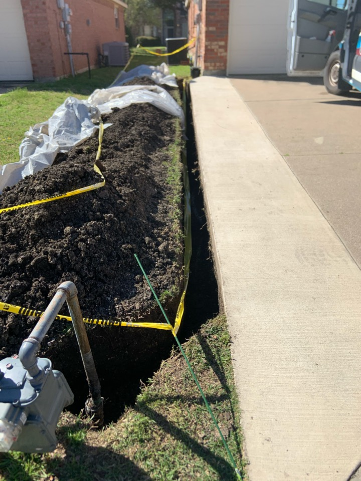 Installing new gas main