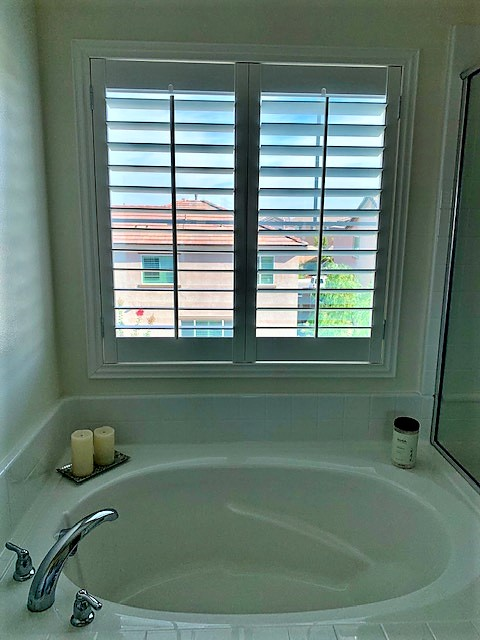 San Bernardino, CA - Poly shutters with Z frames.