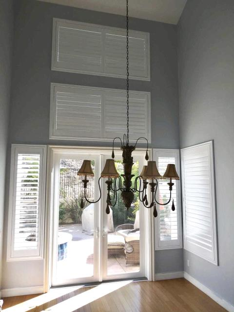 San Clemente, CA - Basswood shutters installed in a new home in San Clemente