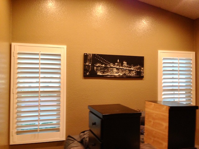 Rancho Cucamonga, CA - Basswood shutters installed in Rancho Cucamonga, CA